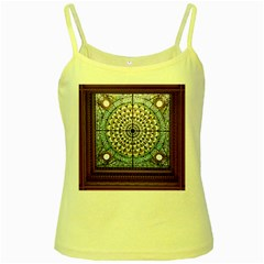 Stained Glass Window Library Of Congress Yellow Spaghetti Tank by Nexatart