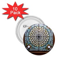 Stained Glass Window Library Of Congress 1 75  Buttons (10 Pack) by Nexatart