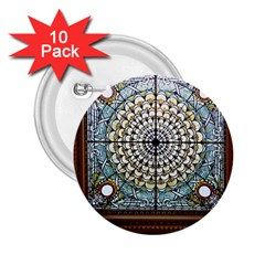 Stained Glass Window Library Of Congress 2 25  Buttons (10 Pack)  by Nexatart