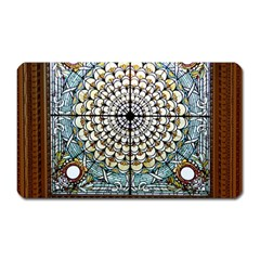 Stained Glass Window Library Of Congress Magnet (rectangular) by Nexatart
