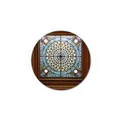 Stained Glass Window Library Of Congress Golf Ball Marker (10 Pack)