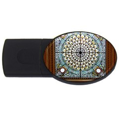 Stained Glass Window Library Of Congress Usb Flash Drive Oval (2 Gb) by Nexatart
