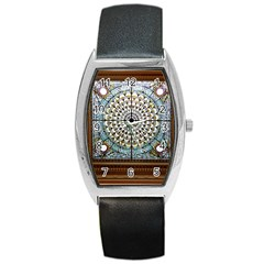 Stained Glass Window Library Of Congress Barrel Style Metal Watch by Nexatart