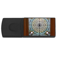 Stained Glass Window Library Of Congress Usb Flash Drive Rectangular (4 Gb) by Nexatart