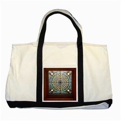 Stained Glass Window Library Of Congress Two Tone Tote Bag by Nexatart