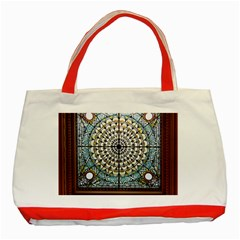 Stained Glass Window Library Of Congress Classic Tote Bag (red) by Nexatart