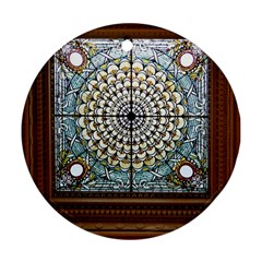 Stained Glass Window Library Of Congress Round Ornament (two Sides) by Nexatart
