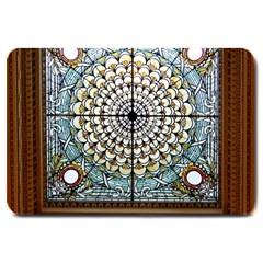 Stained Glass Window Library Of Congress Large Doormat