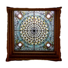 Stained Glass Window Library Of Congress Standard Cushion Case (two Sides) by Nexatart