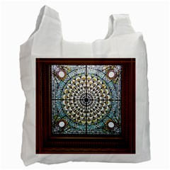 Stained Glass Window Library Of Congress Recycle Bag (one Side) by Nexatart