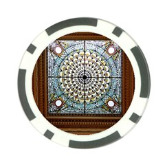Stained Glass Window Library Of Congress Poker Chip Card Guard (10 Pack) by Nexatart