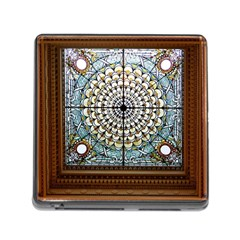 Stained Glass Window Library Of Congress Memory Card Reader (square) by Nexatart