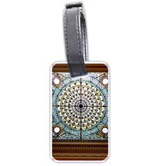 Stained Glass Window Library Of Congress Luggage Tags (one Side)  by Nexatart