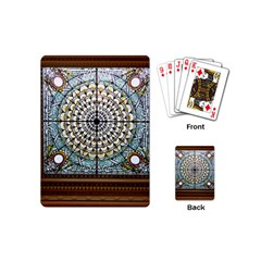 Stained Glass Window Library Of Congress Playing Cards (mini)  by Nexatart