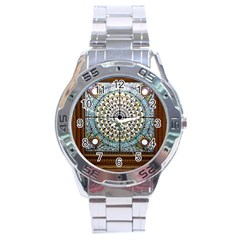 Stained Glass Window Library Of Congress Stainless Steel Analogue Watch