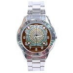 Stained Glass Window Library Of Congress Stainless Steel Analogue Watch Front
