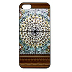 Stained Glass Window Library Of Congress Apple Iphone 5 Seamless Case (black) by Nexatart