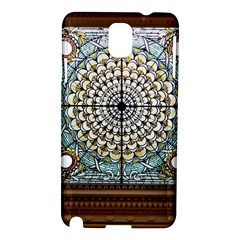 Stained Glass Window Library Of Congress Samsung Galaxy Note 3 N9005 Hardshell Case by Nexatart