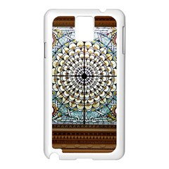 Stained Glass Window Library Of Congress Samsung Galaxy Note 3 N9005 Case (white) by Nexatart