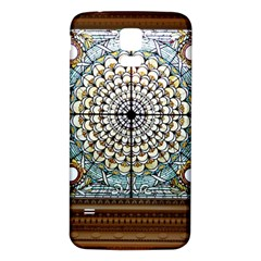 Stained Glass Window Library Of Congress Samsung Galaxy S5 Back Case (white) by Nexatart