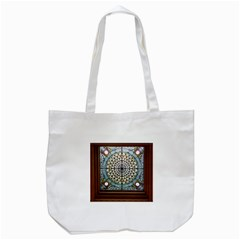 Stained Glass Window Library Of Congress Tote Bag (white) by Nexatart