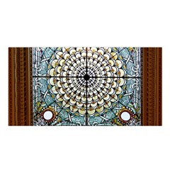 Stained Glass Window Library Of Congress Satin Shawl by Nexatart