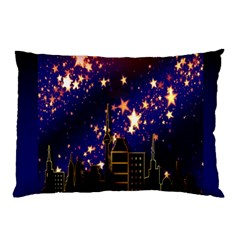 Star Advent Christmas Eve Christmas Pillow Case by Nexatart