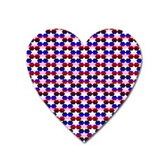 Star Pattern Heart Magnet by Nexatart