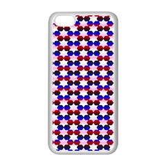Star Pattern Apple Iphone 5c Seamless Case (white)