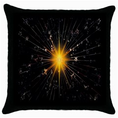Star Christmas Advent Decoration Throw Pillow Case (black) by Nexatart