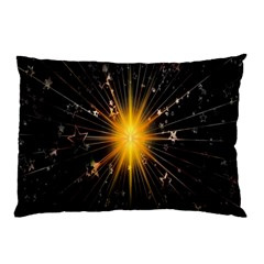 Star Christmas Advent Decoration Pillow Case by Nexatart