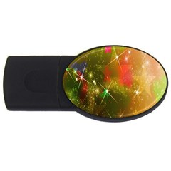 Star Christmas Background Image Red Usb Flash Drive Oval (2 Gb)