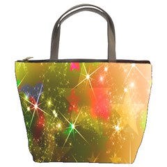 Star Christmas Background Image Red Bucket Bags by Nexatart