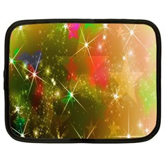 Star Christmas Background Image Red Netbook Case (xxl)  by Nexatart