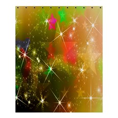 Star Christmas Background Image Red Shower Curtain 60  X 72  (medium)  by Nexatart