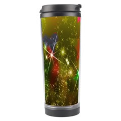 Star Christmas Background Image Red Travel Tumbler by Nexatart