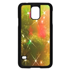 Star Christmas Background Image Red Samsung Galaxy S5 Case (black) by Nexatart
