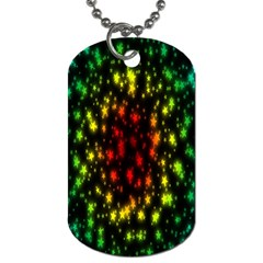 Star Christmas Curtain Abstract Dog Tag (one Side) by Nexatart