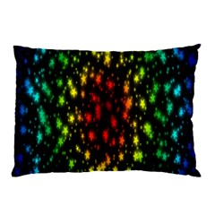 Star Christmas Curtain Abstract Pillow Case by Nexatart