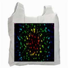 Star Christmas Curtain Abstract Recycle Bag (two Side)