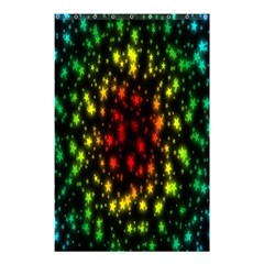 Star Christmas Curtain Abstract Shower Curtain 48  X 72  (small)  by Nexatart