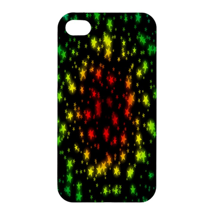 Star Christmas Curtain Abstract Apple iPhone 4/4S Premium Hardshell Case
