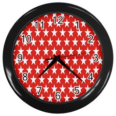 Star Christmas Advent Structure Wall Clocks (black) by Nexatart
