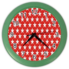 Star Christmas Advent Structure Color Wall Clocks by Nexatart