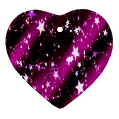 Star Christmas Sky Abstract Advent Heart Ornament (two Sides) by Nexatart