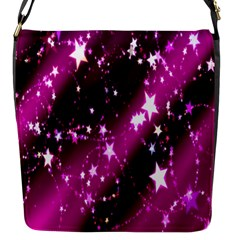Star Christmas Sky Abstract Advent Flap Messenger Bag (s) by Nexatart