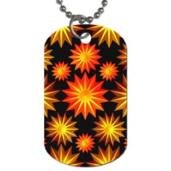 Stars Patterns Christmas Background Seamless Dog Tag (one Side)