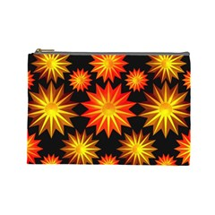 Stars Patterns Christmas Background Seamless Cosmetic Bag (large)  by Nexatart