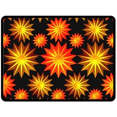 Stars Patterns Christmas Background Seamless Fleece Blanket (large)  by Nexatart