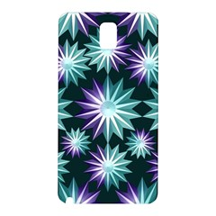 Stars Pattern Christmas Background Seamless Samsung Galaxy Note 3 N9005 Hardshell Back Case by Nexatart